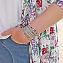 Set of Four Bracelets in Blue Tones image