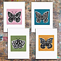 Butterfly Print in Sage Green image