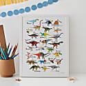 Dinosaur Alphabet Print image