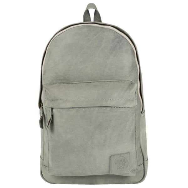 MAHI LEATHER Leather Classic Backpack Rucksack in Vintage Grey