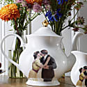 Kissing Couple Bone China Teapot image
