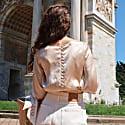Yasmin Nude Silk Blouse image