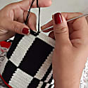 Micro Black and White Mochila Crossbody Bag image
