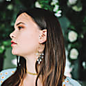 Amazonite & Moonstone Drop Catalina Earrings In Gold image