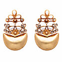 Mother Of Pearl & Crystal Statement Earrings image