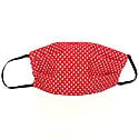 Red Lola Lupins Face Mask, Triple Layered Soft Fabric image