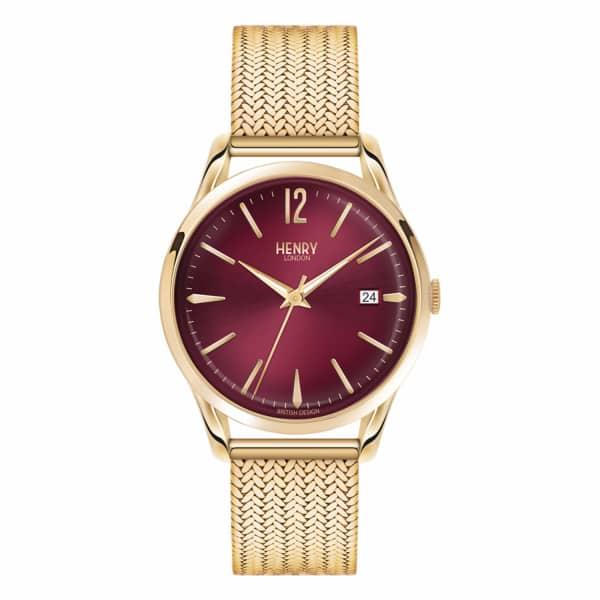 HENRY LONDON Ladies 39Mm Holborn Stainless Steel Bracelet Watch