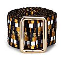 Sunda Jacquard Belt Black & Gold image