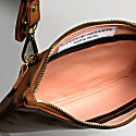 Companion Max Leather Crossbody Clutch In Caramel image