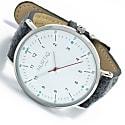 Moderno Vegan Tweed Watch Silver, White & Grey image