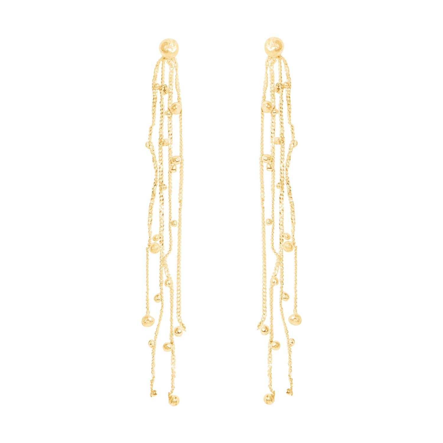 c015bf576a0fe9 Stardust Shooting Stars Solid Gold Chandelier Earrings | Lily Flo ...