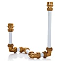 Pipework Candelabra Two White image