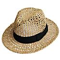 Fedora Crochet Straw Hat image