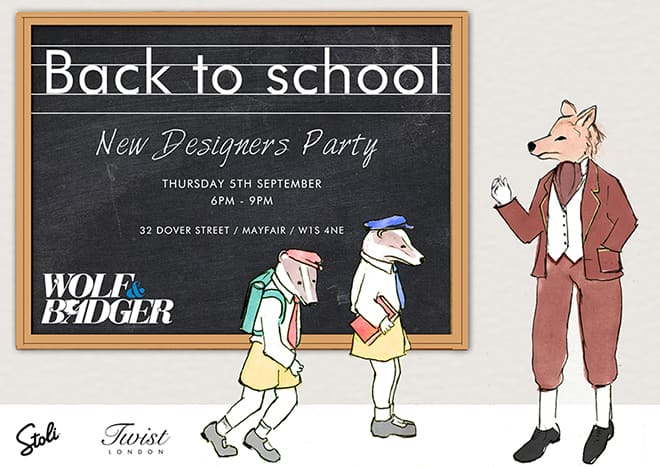 Wolf & Badger- New Designer Party 5th Sept