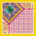 Ananas Yellow Silk Scarf image