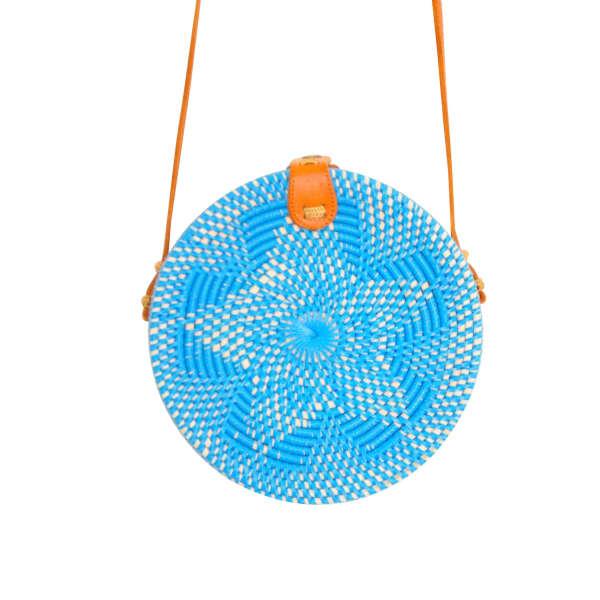 SOI 55 Cantik Round Bali Bag Blue