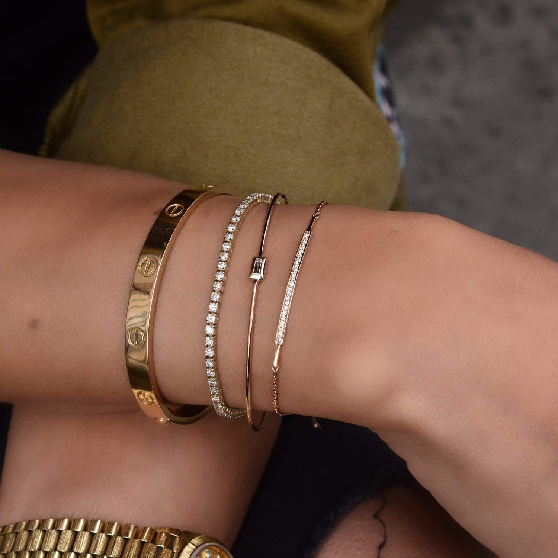 Jezebel London 14kt Rose Gold & Diamond Margaret Cuff Bracelet r4QAZ