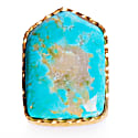 Shield Ring in Turquoise  image