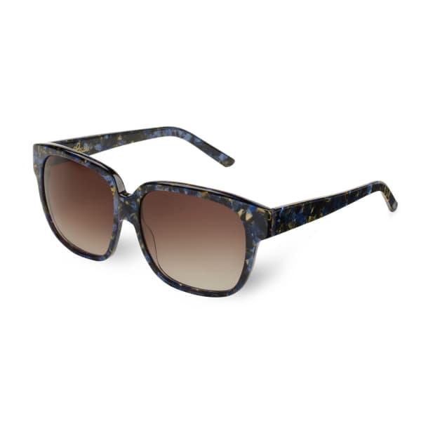 HEIDI LONDON Oversized Square Sunglasses Blue