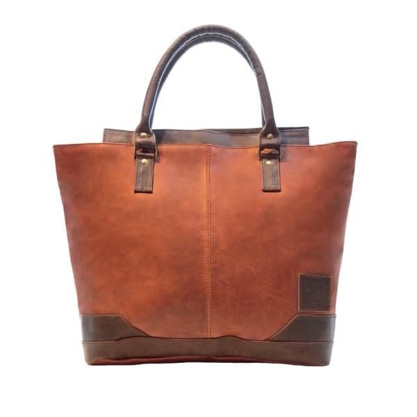 MAHI LEATHER Leather Florence Tote Handbag in Vintage Brown