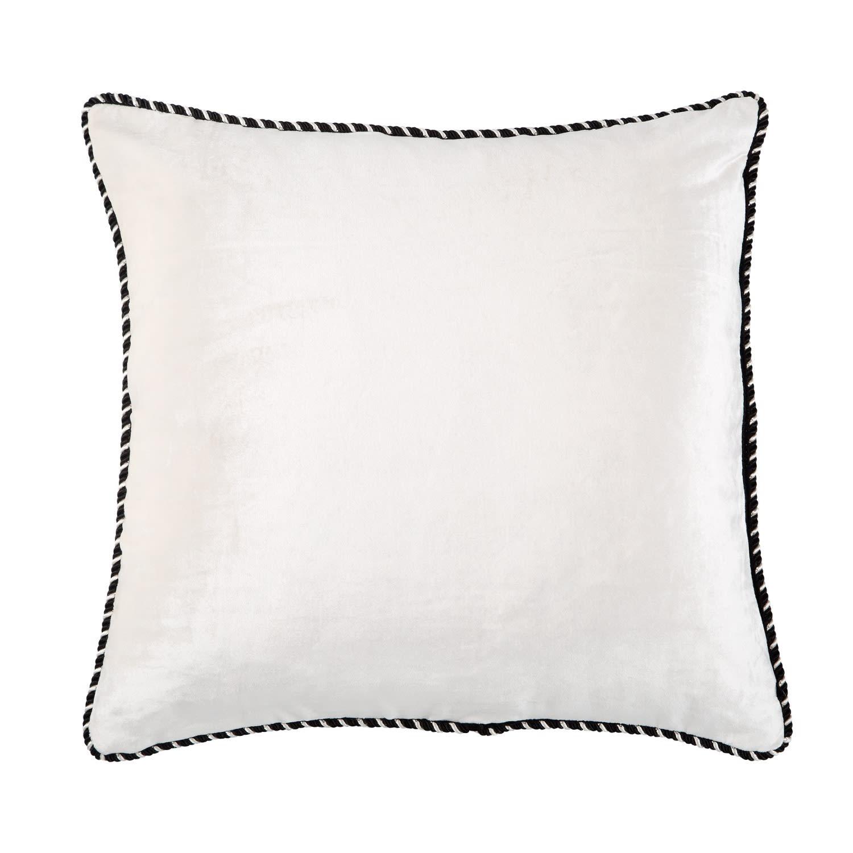 black white velvet cushion bivain wolf badger rh wolfandbadger com round black velvet cushions black velvet cushions uk