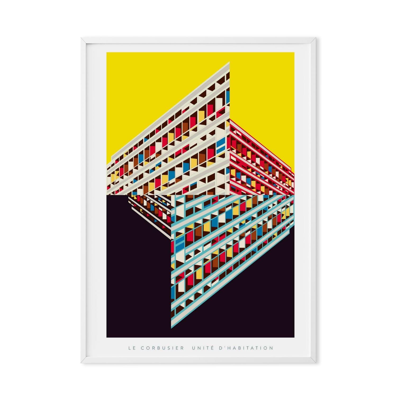 Le Corbusier Unite D Habitation le corbusier's unité d'habitation art print poster by eye for london prints