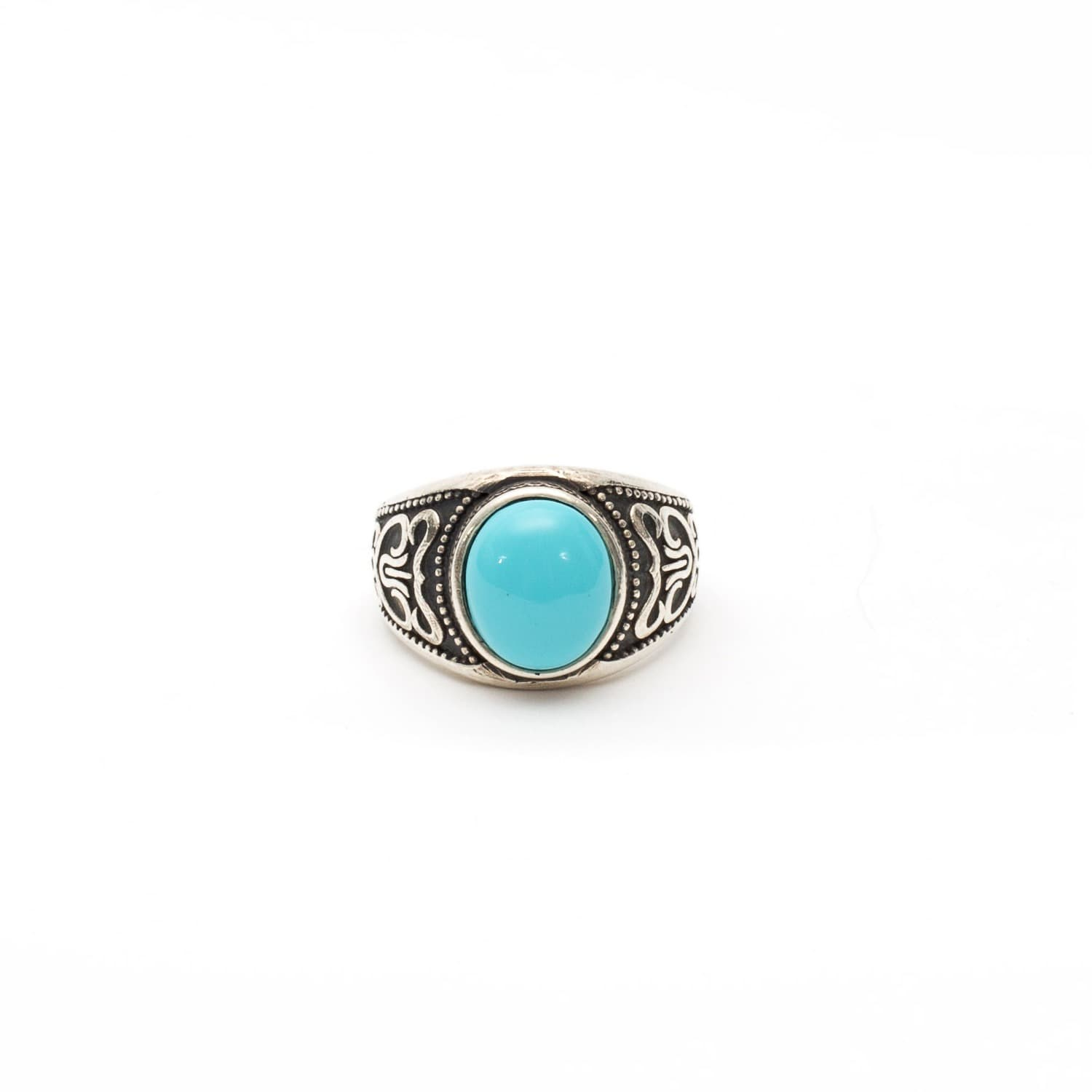 12be71294dafb Silver Turquoise Stone Ring by Serge DeNimes