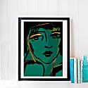 Alone A3 Signed Giclée Print - Green Velvet image