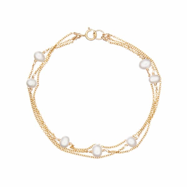 LILY & ROO Gold Layered Pearl Bracelet