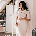 Cara Midi Polo Dress In Off-White image