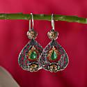 Garland Emerald Diamond Earrings image