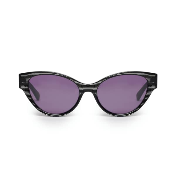 Black Stripe Cateye Sunglasses