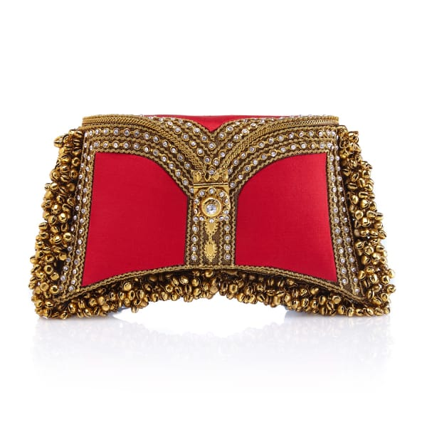 MAE CASSIDY Zeenat Clutch Fiery Red