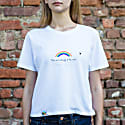 Rainbow Sustainable T-Shirt In White image