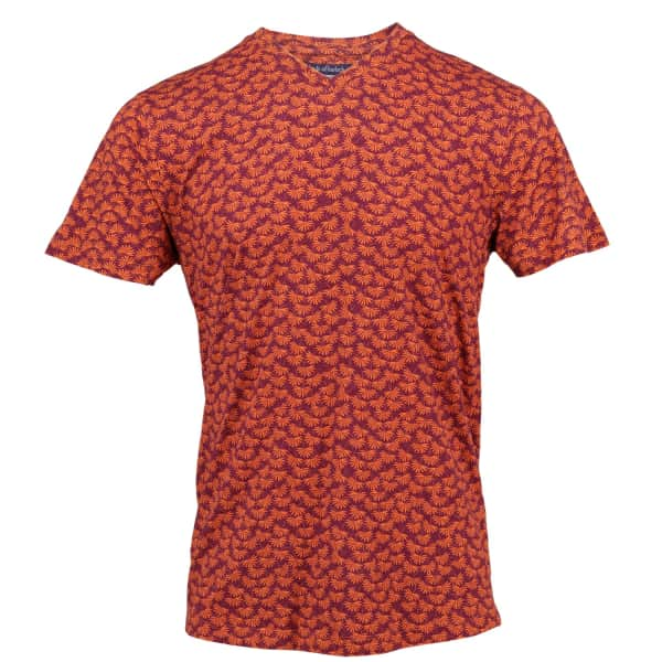LORDS OF HARLECH Maze Tee In Mulberry Leaves