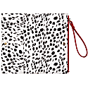 Red Vegan Leather Wristlet Purse image