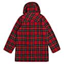 Water Repellent Wool Duffle Coat - Red Tartan image