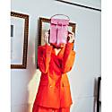 The Mini Bag Croco Berry Pink image