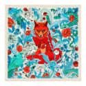 Cashmere Silk Fox Teal Scarf image
