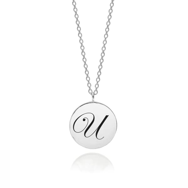 MYIA BONNER Sterling Silver Initial U Edwardian Pendant
