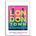 Battersea Power Station London Town Series A3 Print image