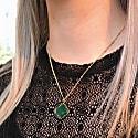 Green Onyx Petal On Biba Chain image