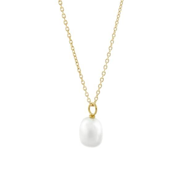 MONARC JEWELLERY Baroque Pearl Necklace Gold Vermeil