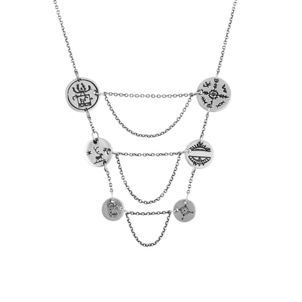 Sami Breastplate Coin Necklace