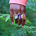 Purple Mega Gemstone Gold Statement Ring image