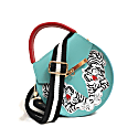 Loel Tiger Embroidered Top Handle Bag image