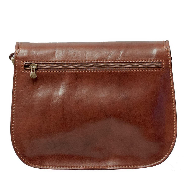 Luxury Italian Leather Women s Saddlebag Purse Large Chestnut Tan image d3cb42c3a029c