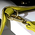 Champion Zip Around Leather Wallet In Yellow image