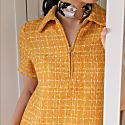 Anna Polo Dress In Yellow Tweed image
