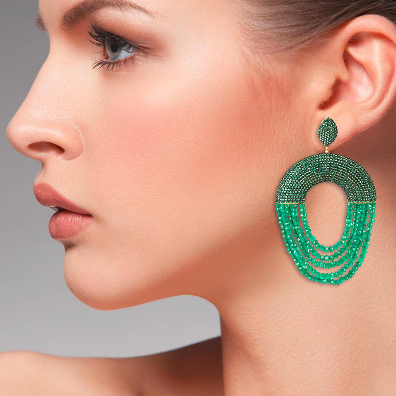 Latelita London Monaco Earring Green Onyx hG88mC7kyb
